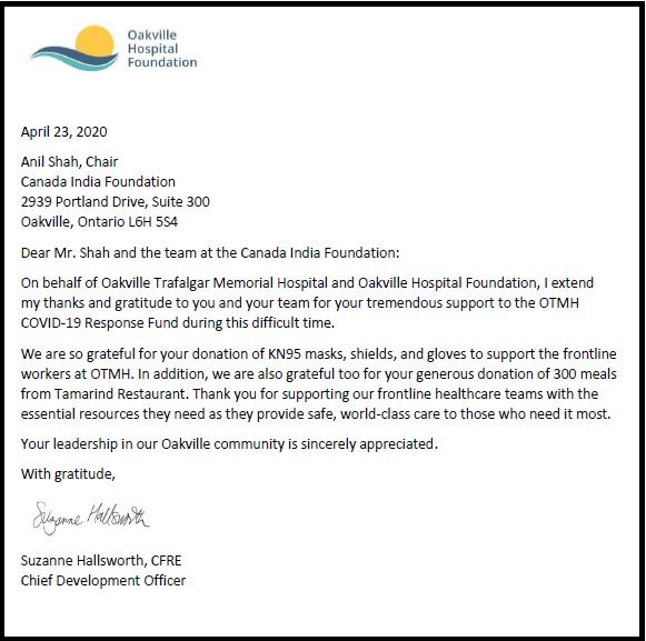Testimonial by Oakville Hospital Foundation